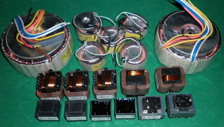 Силовые трансформаторы для гибридного усилителя Grimmi