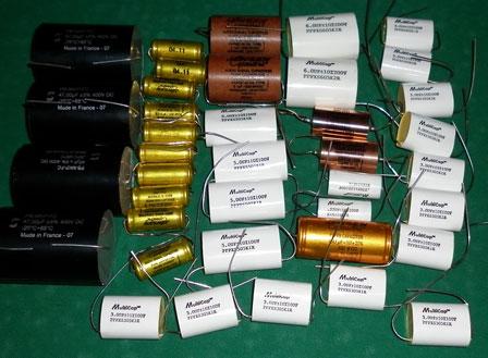 Бумажные и плёночные конденсаторы для гибридного усилителя Grimmi